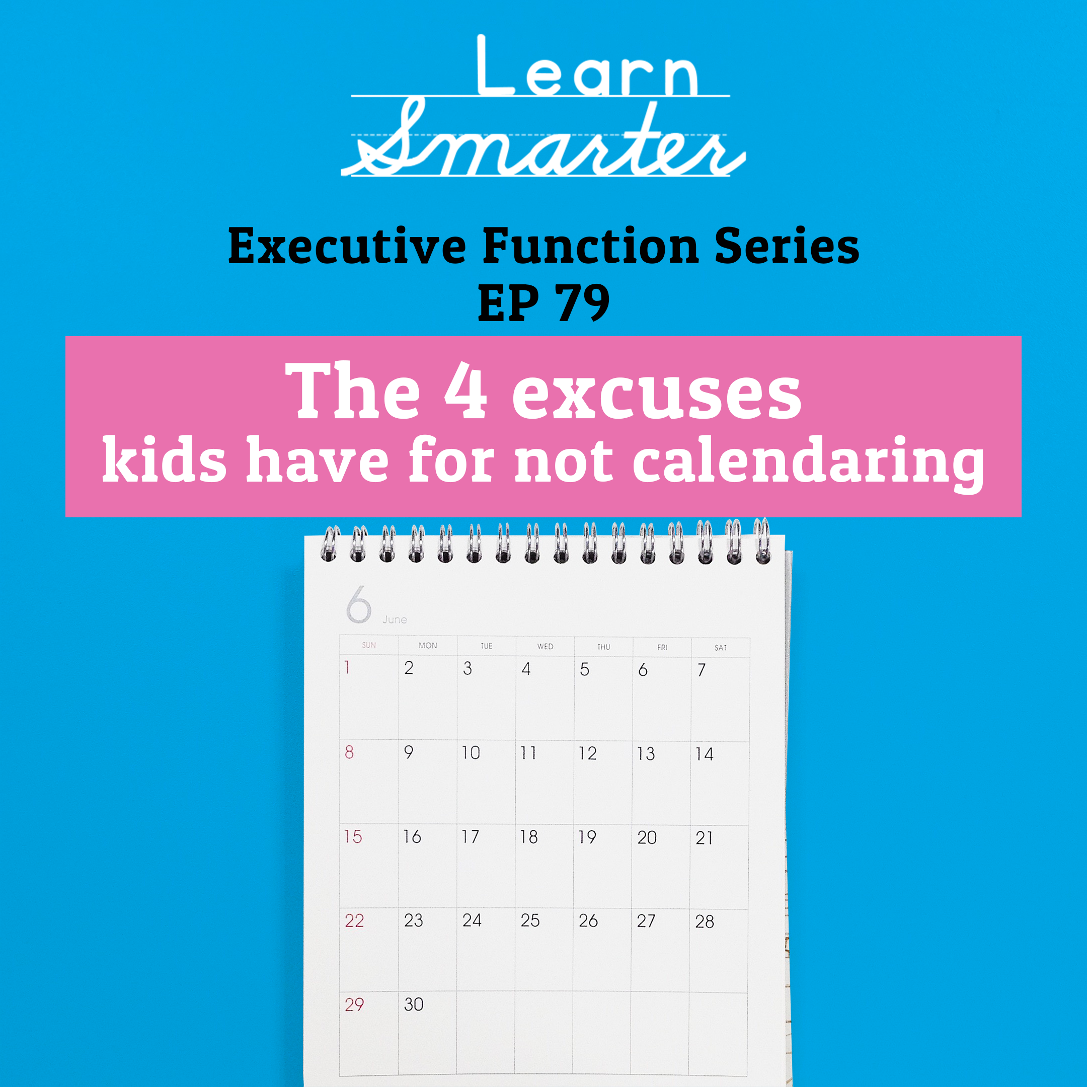 79: The 4 excuses kids have for not calendaring (Executive Function Series)