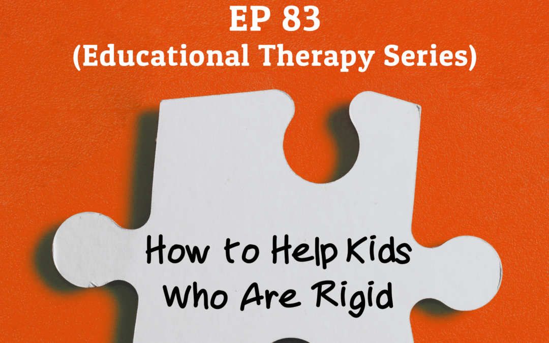 83: How To Help Kids who are Rigid (Educational Therapy Series)