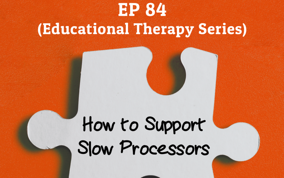 84: How to Support Slow Processors (Educational Therapy Series)