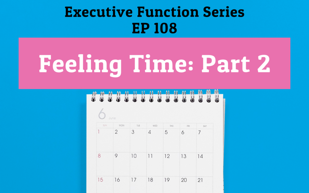 108: Feeling Time: Part 2 (Executive Function Series)