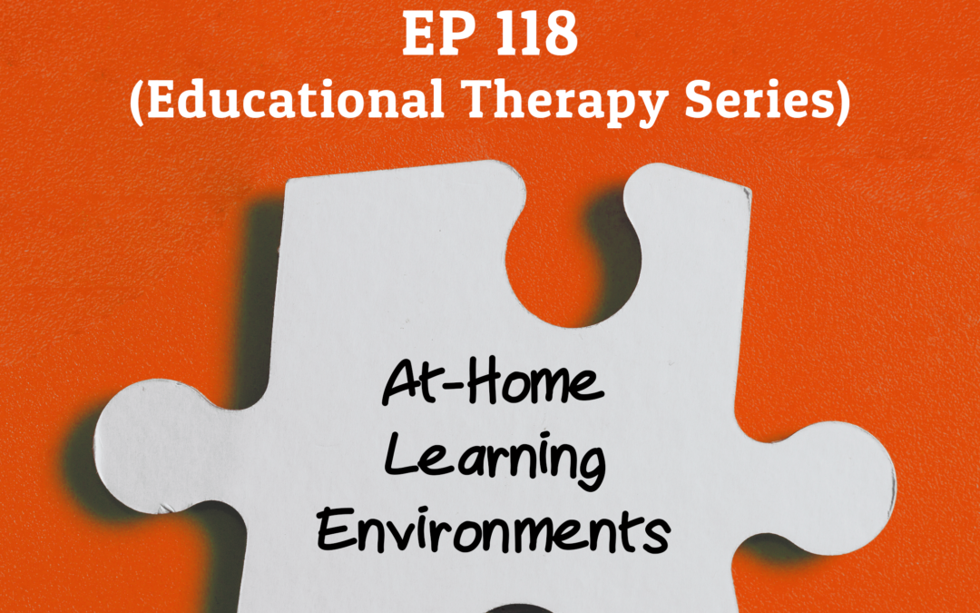 118: At-Home Learning Environments (Educational Therapy Series)
