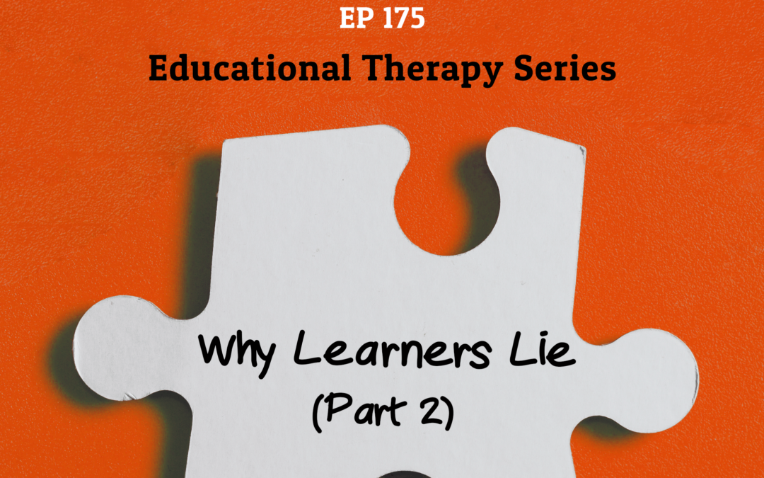 175: What to do About Learners Who Lie (Part 2) (Educational Therapy Series)